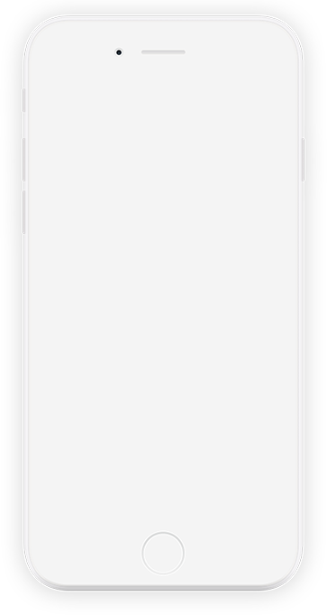 Mobile phone with example screens